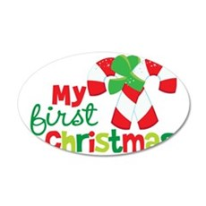1stChristmasCandyCandy 35x21 Oval Wall Decal