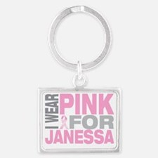 I-wear-pink-for-JANESSA Landscape Keychain