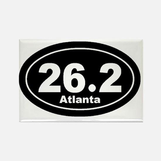 262_atlanta_blk Rectangle Magnet