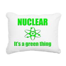 nuclear power go green Rectangular Canvas Pillow
