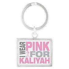 I-wear-pink-for-KALIYAH Landscape Keychain