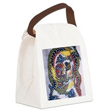 Chinese emblem white mens t-shirt Canvas Lunch Bag