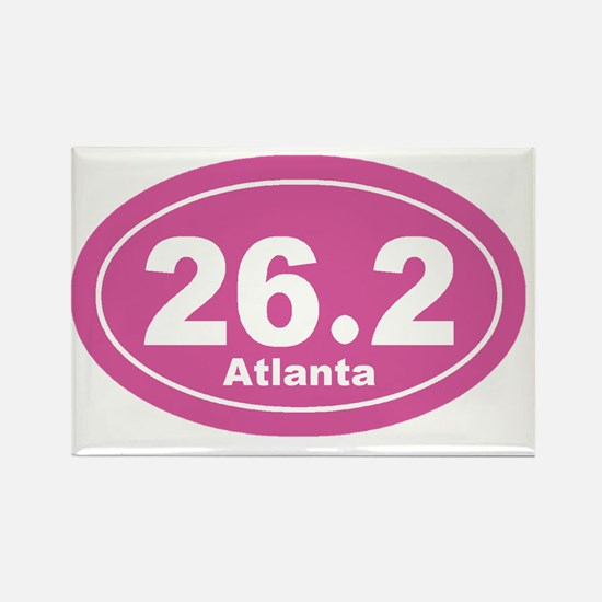262_atlanta_pnk Rectangle Magnet