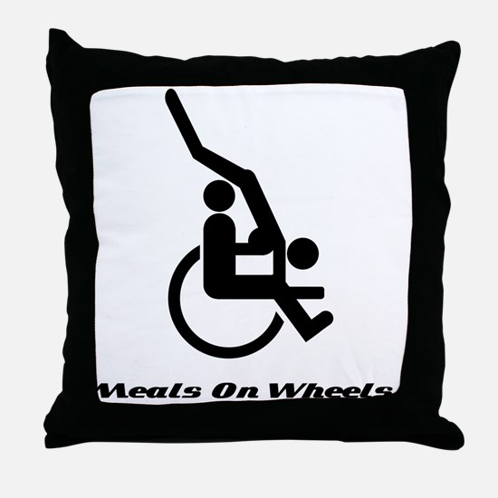 Meals on wheels Throw Pillow