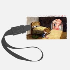 SantaMouseCdFront Luggage Tag