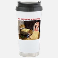 SantaMouseCdFront Stainless Steel Travel Mug