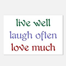 Live Well Postcards (Package of 8)