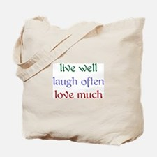 Live Well Tote Bag