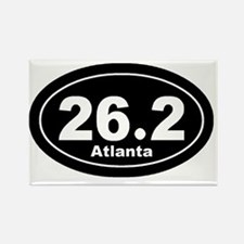 262_atlanta_blk Rectangle Magnet
