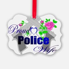 Cross guns police wife Ornament