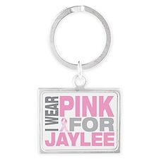 I-wear-pink-for-JAYLEE Landscape Keychain