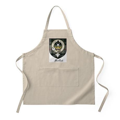 Moffat Clan Crest Tartan BBQ Apron