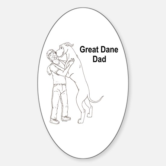N GD Dad Oval Decal
