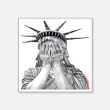 "liberty final Square Sticker 3"" x 3"""