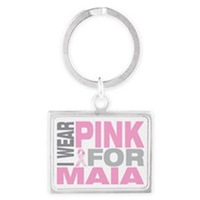 I-wear-pink-for-MAIA Landscape Keychain