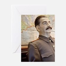 Seated wax figure of WWII Russian le Greeting Card