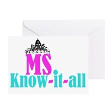 cafe - Ms know it all Greeting Card