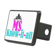 cafe - Ms know it all Rectangular Hitch Cover
