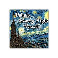"Dalias Square Sticker 3"" x 3"""