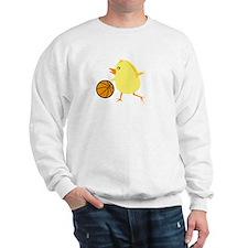 Basketball Chick White Sweatshirt