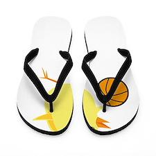 Basketball Chick White Flip Flops