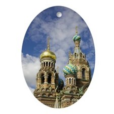 Russia. St. Petersburg. Church on Sp Oval Ornament