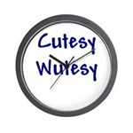 Cutesy Wutesy Wall Clock