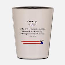 Winston Churchill Courage Shot Glass