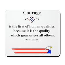 Winston Churchill Courage Mousepad