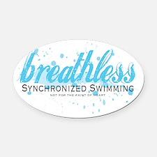 Breathless Oval Car Magnet