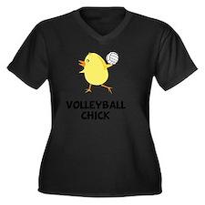 Volleyball C Women's Plus Size Dark V-Neck T-Shirt