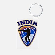 cricket player batsman Ind Keychains