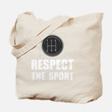 Driving Respect The Sport White Tote Bag