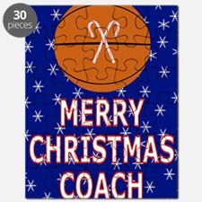 Merry Christmas Greeting Card for Basketbal Puzzle