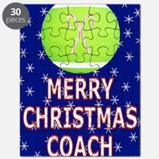 Merry Christmas Greeting Card for Tennis Co Puzzle