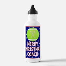 Merry Christmas Greeti Water Bottle