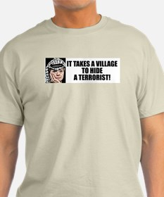 """""""Hillary: It Takes A Village To Hide..."""" Color Tee"""
