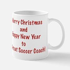 Merry Christmas Soccer Coach Card Verse Mug