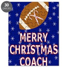 Merry Christmas Greeting Card for Football  Puzzle