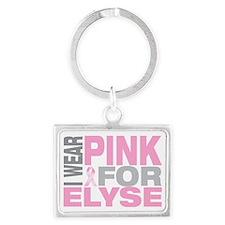 I-wear-pink-for-ELYSE Landscape Keychain