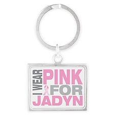 I-wear-pink-for-JADYN Landscape Keychain
