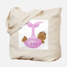 African American It's a Girl Tote Bag