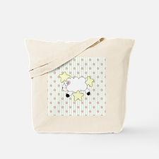 Lamb on Flowers Tote Bag