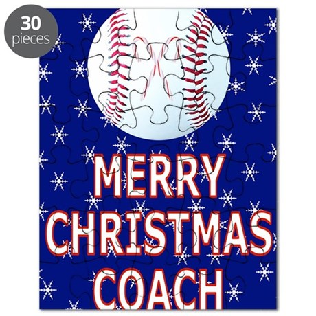 Merrry Christmas Greeting Card for Baseball Puzzle