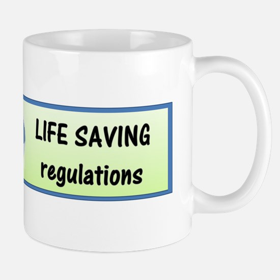 EPA green letters Mug