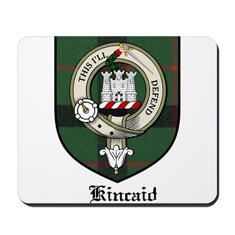 Kincaid Clan Crest Tartan Mousepad