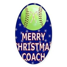 Merry Christmas Greeting Card for S Decal