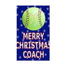 Merry Christmas Greeting Card  Decal