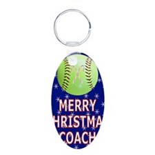 Merry Christmas Greeting Ca Keychains
