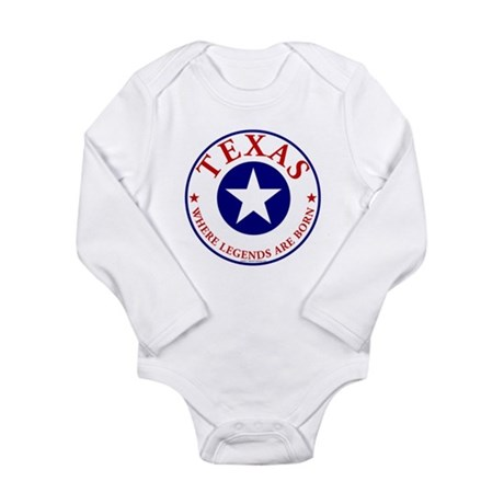 Texas where legends are born Baby Bodysuit Body Su